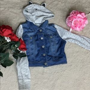 Cat and Jack Kitty Ear Denim Jacket